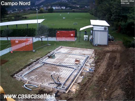 Come realizzare una base fondazione per prefabbricato for Casetta prefabbricata cemento