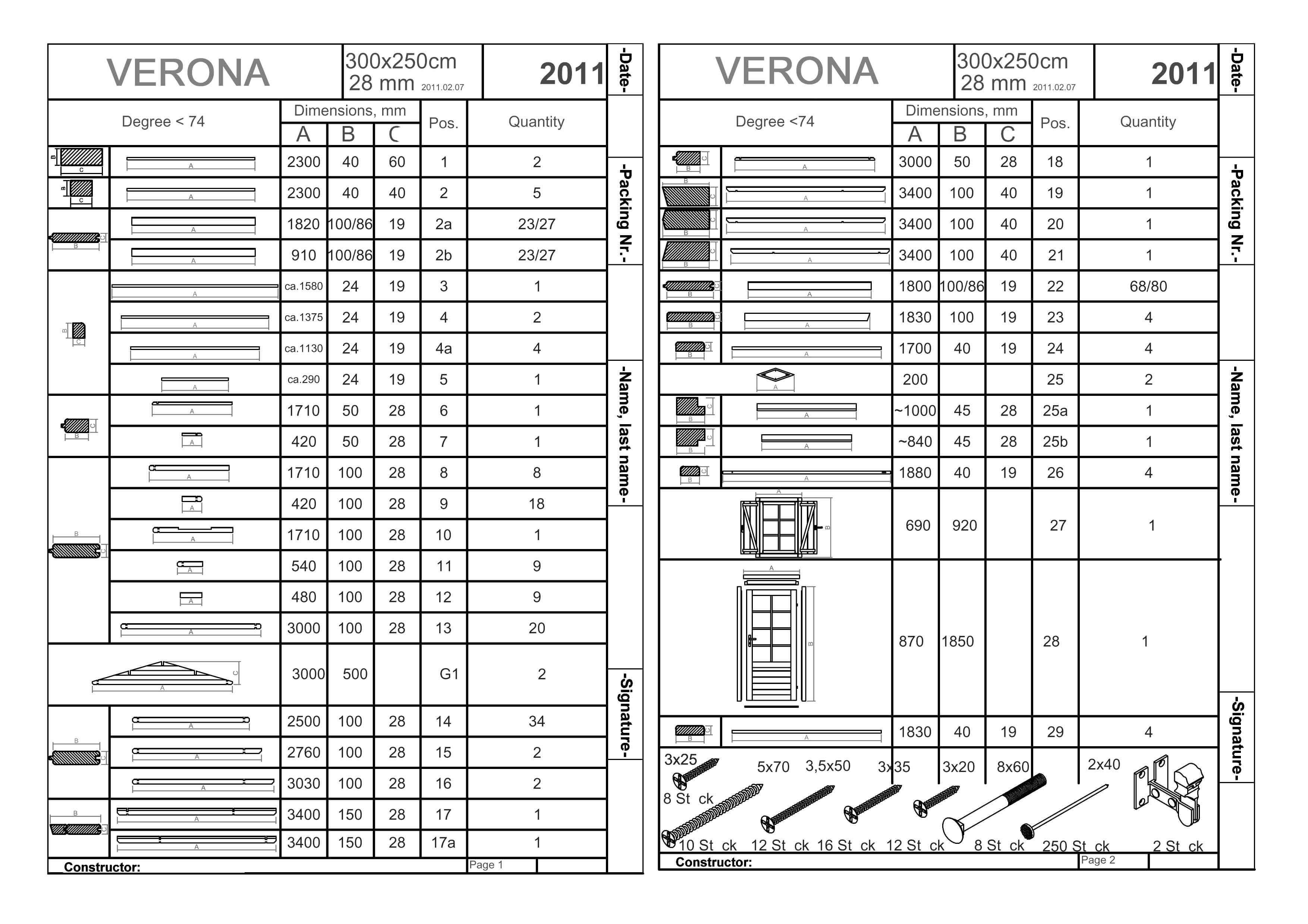 Verona pag 6 for Come leggere la costruzione di progetti